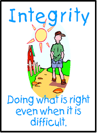 be a person of integrity