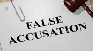 you might be falsely accused