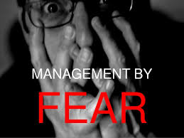 management by fear
