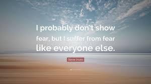 do not show fear