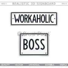 workaholic boss