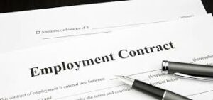 have permanent work contract