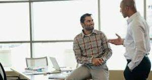 good conversation with boss