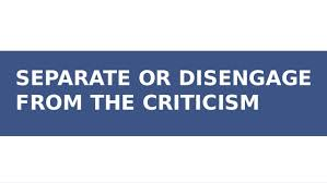 separate from criticism