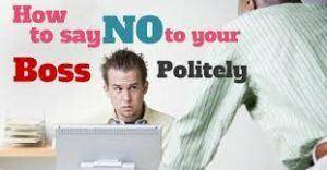 say no to boss